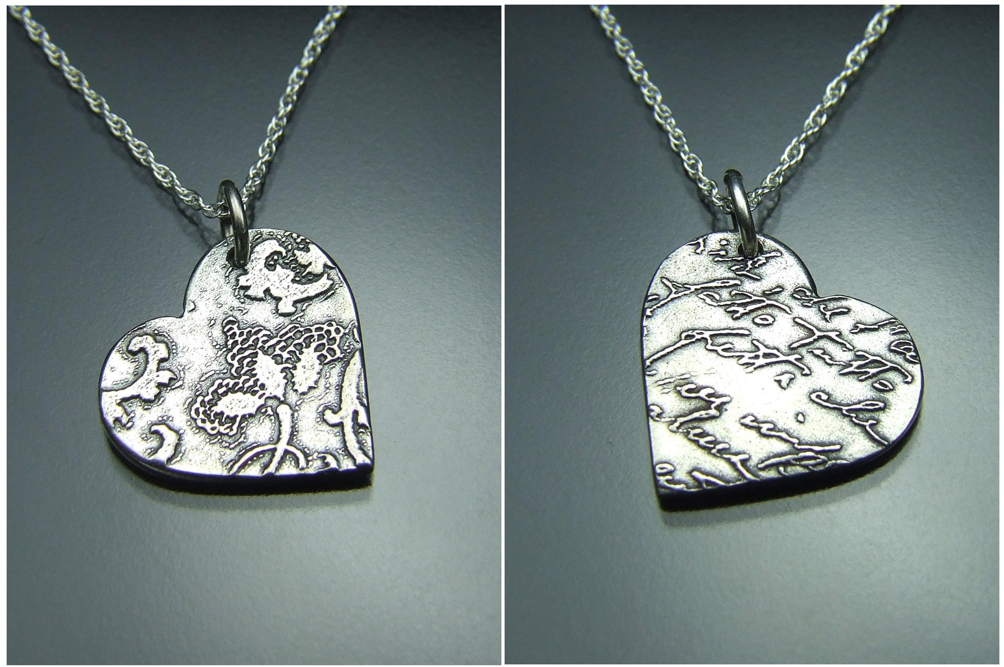 Craft Bench Workshop Silver Clay Pendant Huguenot Museum